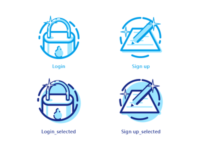 icons of login&Sign up illustration icon