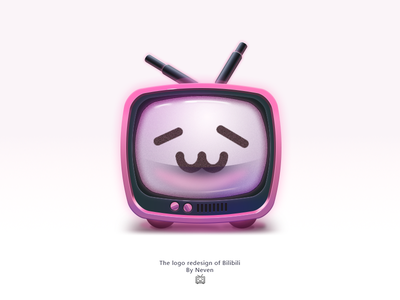 The redesign of Bilibili television logo icon logo ui skeuomorphism