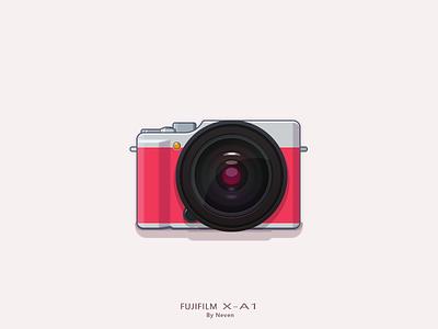 FUJIFILM X-A1 logo illustration icon