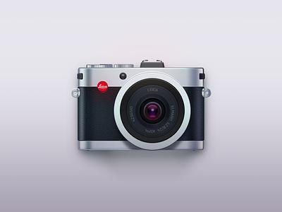 Leica logo camera illustration icon ui