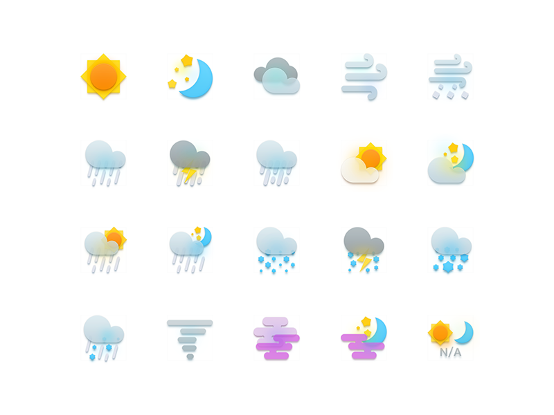 Weather icons (source file ) colors free weather icon icons source resource