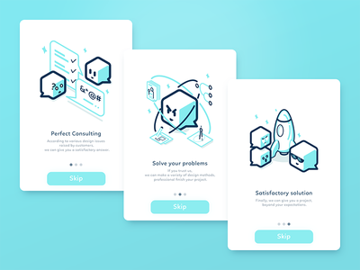 Welcome Pages  work ios illustration guide design app onboarding