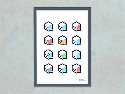 Emoji wow sad love lol like haha app angry illustrations faces emotions emoji