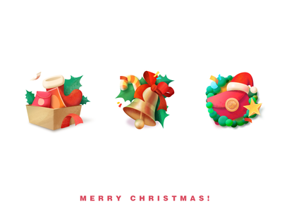 Merry Christmas!🎄 christmas icons ui illustration icon