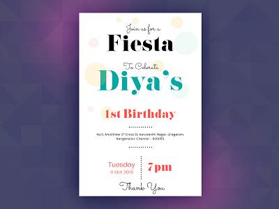 Birthday card event celebration first birthday