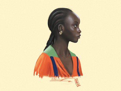 Girl Portrait digital art digital painting style drawing illustration