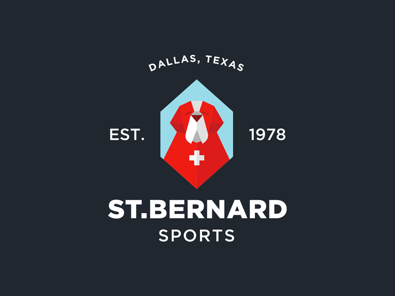 St.Bernard Sports Logo sport dog animal brand illustration istanbul logo st.bernard mustafa kural