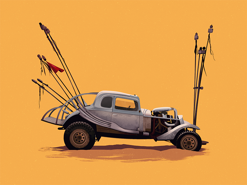 Mad Max The Nux Car istanbul mad max the nux car car movie fury road illustration road warrior