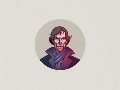Sherlock istanbul portrait illustration bbc mystery tv series benedict cumberbatch sherlock holmes