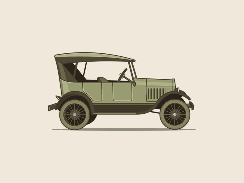 Ford Model T classic vintage illustration vector car ford