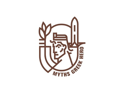 Myths Greek Hero lineart illustration hercules mythology hero greek myths