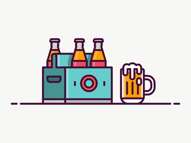 Beer Icon colour line line icon illustration icon beer