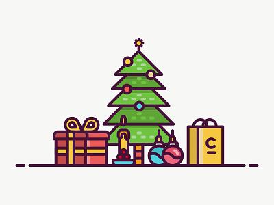 Christmas Icon new year shoping tree icon christmas