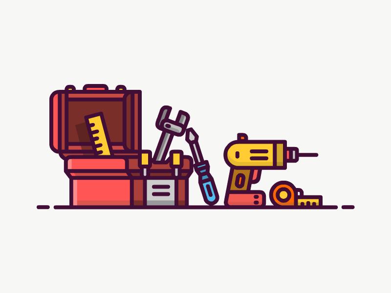 Toolbox Icon toolbox icon line vector