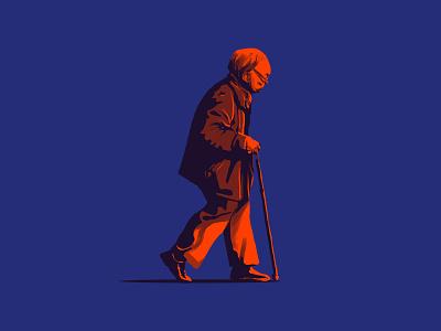 Oldman shadow illustration oldman