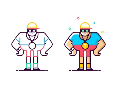 Concept Design Experiments drawing man style istanbul porject colour line icon line drawing illustration character design