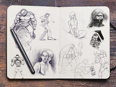 Sketchbook-Pt-VI drawing sketch sketchbook illustration character design