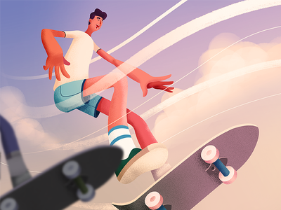 Skater Dudes drawing man style istanbul porject colour line icon line drawing illustration character design