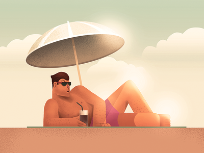 Beach drawing man style istanbul porject colour line icon illustration character design