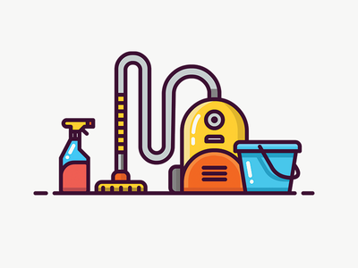 Cleaning Icon vacuum cleaner cleaning icon flat illustration vector