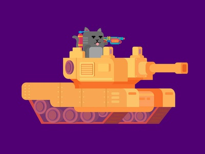 Catty on Tank