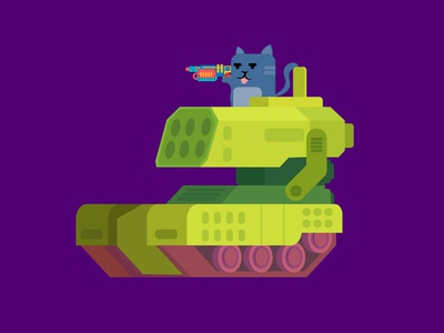 Tank and Cat