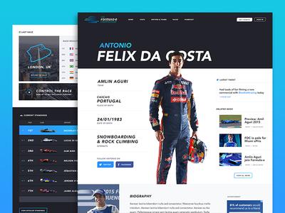 Formula E concept felix da costa antonio concept helmet formula 1 track blue driver profile car racing formula-e