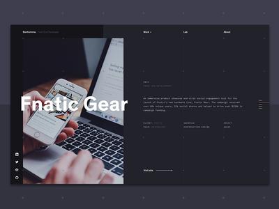 Portfolio developer dot grid lines typography grid landing dark portfolio