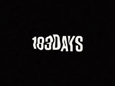 183DAYS liquid warp white black 183 icon distort font type typography logo