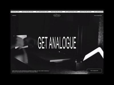 Dark Studio – Shoreditch, London london typography minimal animation condensed font screenrecording mp4 video graphic workshop photo camera dark black photography darkroom