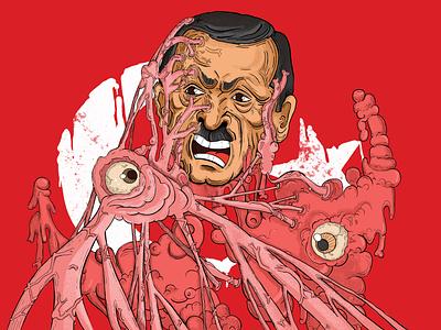 Cancer cancer terror vector design illustration animation 2d