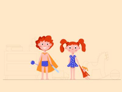 Children characters design