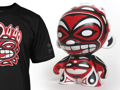 BNI T-shirt Collaboration with Reactor-88 t-shirt collaboration vinyl toy
