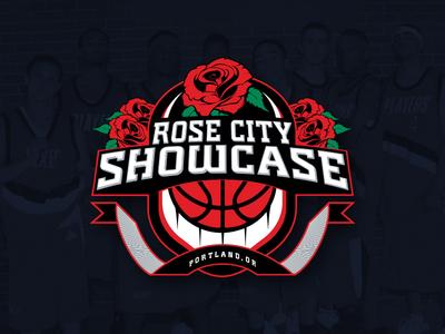 Rose City Showcase Logo logo branding sports basketball portland rose city