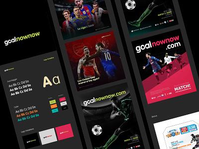 Goalnownow livescore soccer identity design branding typography design logo