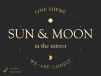 Sun and moon in the mirror|LINE theme
