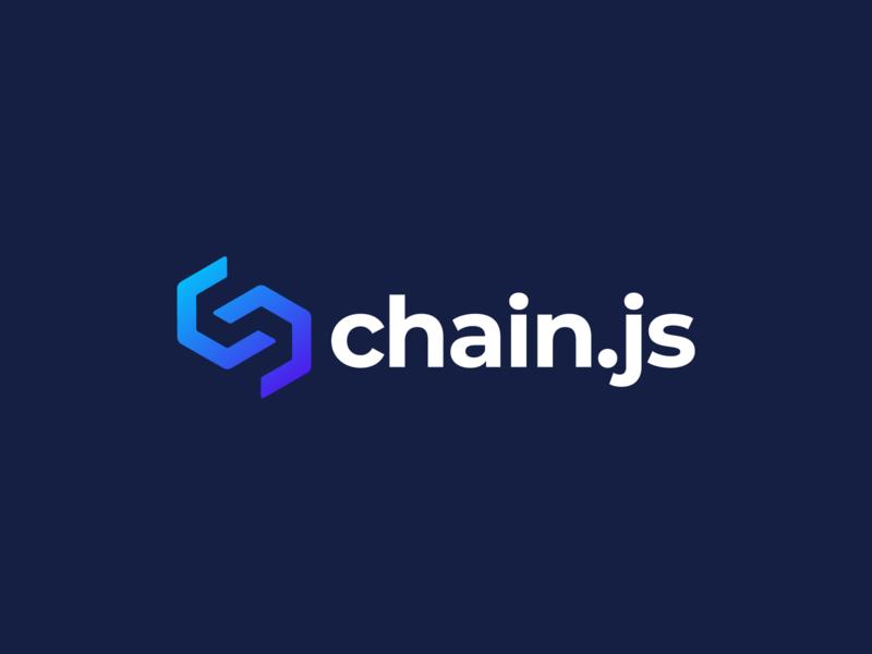 chain.js Logo Design vector brand identity crypto logotype brand blockchain chain branding logo design