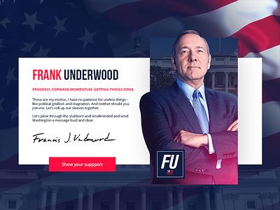 DailyUi #3 - House of Cards webdesign 2016 fu underwook frank cards of house