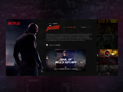 DailyUi#4 - Daredevill spotlight marvel how netflix kitchen hells daredevill dailyui