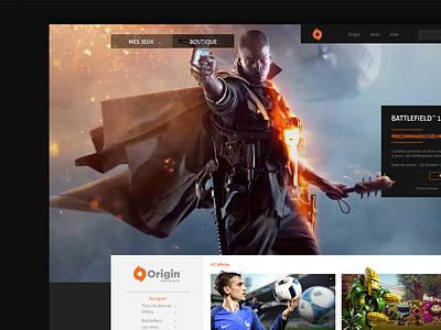 Origin Redesign battlefield games origin webdesign redesign