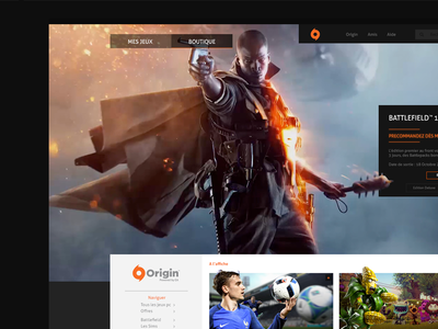 Origin Redesign battlefield games origin webdesign redesign