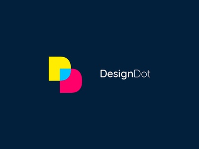 Design Dot print layers dot design logo