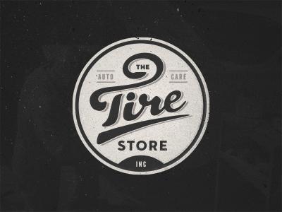 The Tire Store logo tire mechanic auto typography