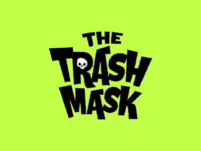 The Trash Mask skull mask trash branding logo type typeography