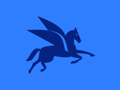 CAS v1 icon wings auto automotive car horse pegasus branding logo design logo