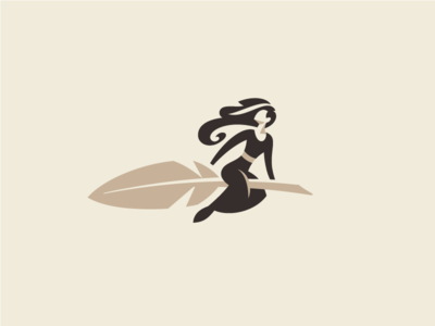 Copywriter Logo 2 witch pen quill woman feather writer writing copywriting copywriter logo