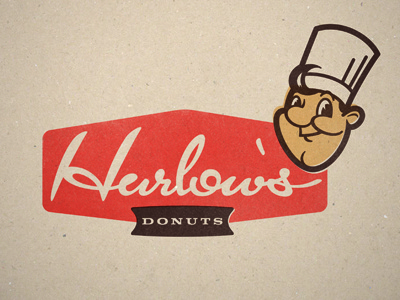 Harlow's Donuts logo typography donuts retro