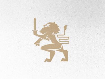 Lion lion sword logo
