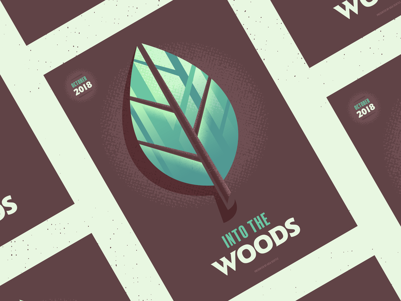 Into the Woods trees zoom poster aiga leaf woods
