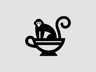 Revel Logo v1 cup tea cup monkey tea logo